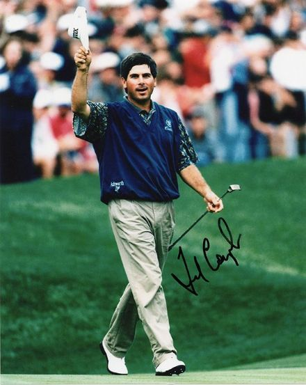 Fred Couples, American golfer, signed 10x8 inch photo.